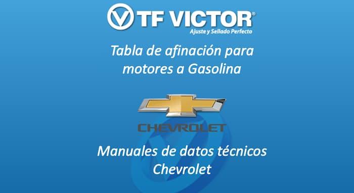 Datos técnicos TF Victor Chevrolet